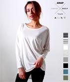 [A.C.D.Y]ポケット付ドルマンロングTシャツ