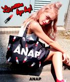 『ANAP』ロゴLIP柄BAG