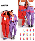『ANAP』ロゴ裏起毛パンツ【別売りSETUP】