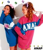 『ANAP』ロゴ配色スウェットチュニック