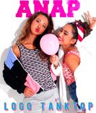 『ANAP』ロゴ 総柄タンクトップ