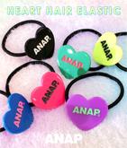 『ANAP』ロゴハートヘアゴム