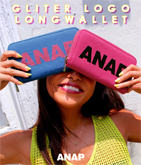 『ANAP』ロゴグリッター長財布