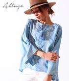 刺繍タッセルフリンジシャツ