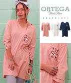 オルテガ刺繍七分袖ワンピース