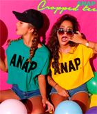 『ANAP』ロゴクロップドTシャツ