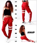 『ANAP』ロゴWラインスウェットパンツ