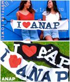 『ANAP』ロゴマフラータオル