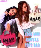 『ANAP』ロゴミニキャンバストートバッグ