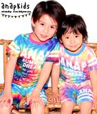 タイダイ風Tシャツ+ショートパンツSET-UP