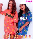 『ANAP』ロゴネオンカラー総柄Tシャツ