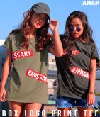 BOXロゴプリントTシャツ