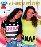 『ANAP』ロゴTシャツ2枚SET