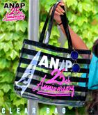 ANAP 25th ロゴボーダービニールバッグ