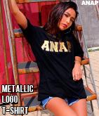 『ANAP』ロゴメタリックワッペンTシャツ
