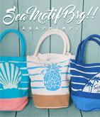 Beachモチーフバイカラーバッグ