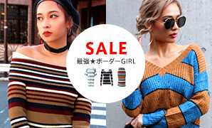 【SALE】\最強★ボーダーGIRL/