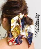 【新色2色追加】スカーフ柄ボリュームリボンゴム