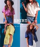 2WAYガーゼカラーシャツ