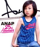 ANAP 25th ストライプロゴナンバータンクトップ