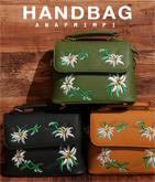 フラワー刺繍ハンドバッグ