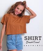 ショート丈シンプルTシャツ