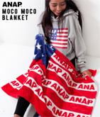 『ANAP』ロゴアメリカンフラッグブランケット