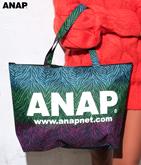 『ANAP』ロゴカラフルゼブラトートバッグ
