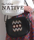 ネィティブ刺繍ショルダーバッグ