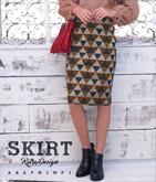 レトロデザインタイトスカート