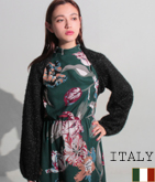 ITALY シャギーヤーンバルーンスリーブボレロ