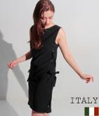 ITALY アイレットサイドレースアップワンピース
