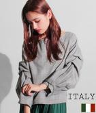ITALY グレンチェックタックスリーブトップス