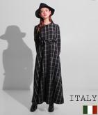 ITALY ウインドペーンロングワンピース