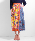 スカーフパッチワーク風ギャザースカート