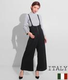 ITALY フレアーパンツサロペット