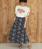フラワーサイドラインスカート
