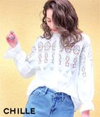 刺繍ポイントシャツ