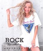 ロックプリントTシャツ