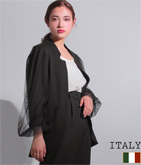 ITALY チュールバルーンスリーブ切り替えジャケット
