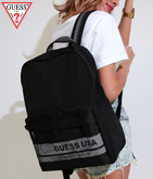 GUESS MESH LETTERING BACKPACK