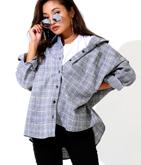 グレンチェックオーバーサイズシャツ