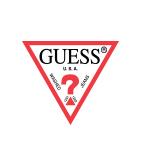 GUESS L/SLV TRIANGLE LOGO TEE SHIRT