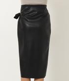 エコレザー巻きスカート風タイトスカート