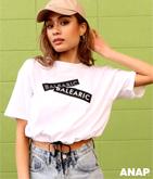 BALEARICプリントドロストTシャツ